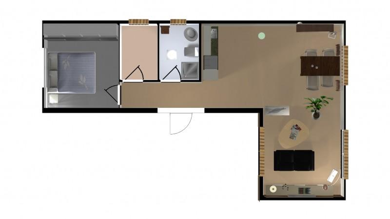3D Wohnzimmerplanung Grundriss