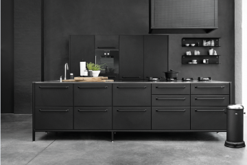 Bild schwarze Küche Ideen