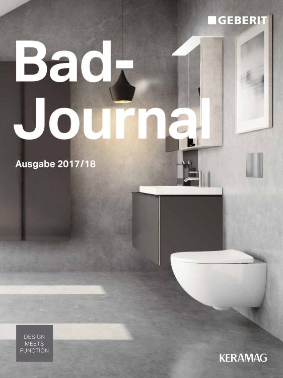 Tolle neue Ideen für Ihre Badgestaltung finden sie im Bad-Journal von Geberit
