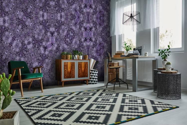 Wandgestaltung Tapete Pantone Farbton 2018 Ultra Violet