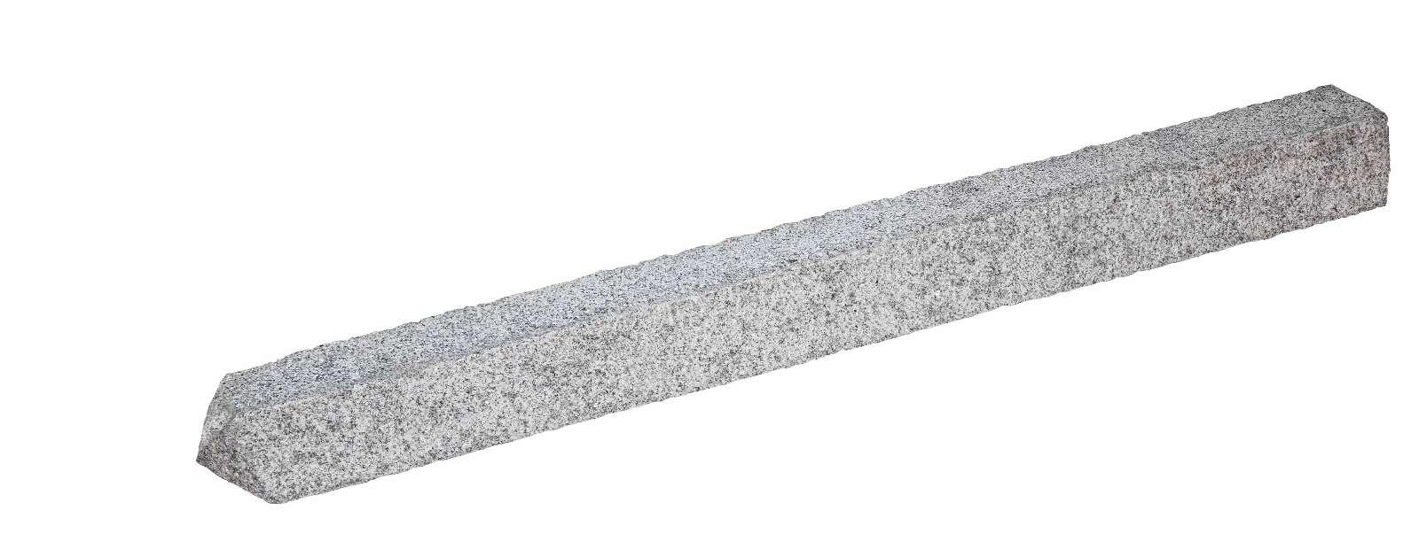Granit-Zaunpfahl eckig hellgrau 175x15x15