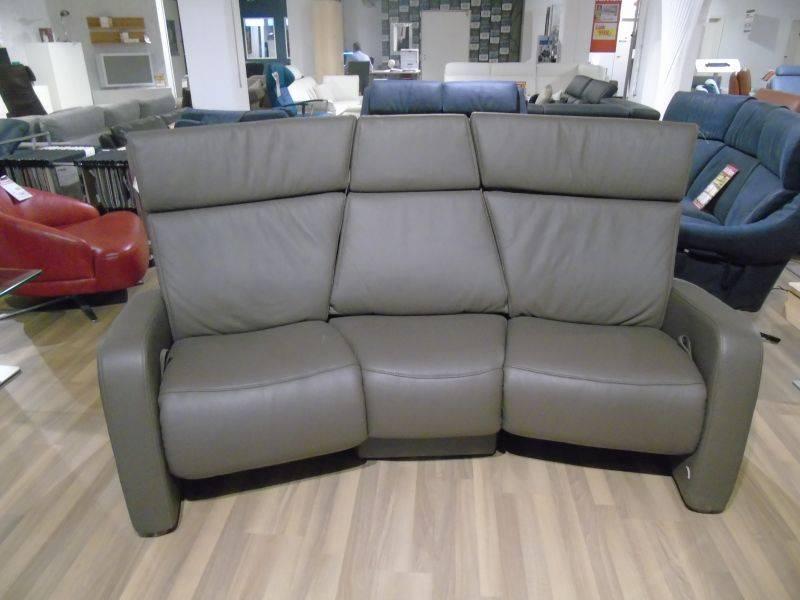 Trapez Sofa in Leder