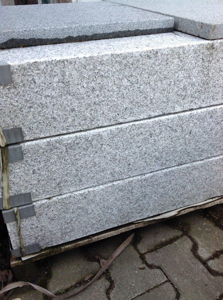 "Granit Blockstufe ""Rocca"" hellgrau 100 cm"