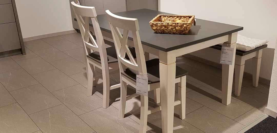 Tischgruppe Windsor in weiss