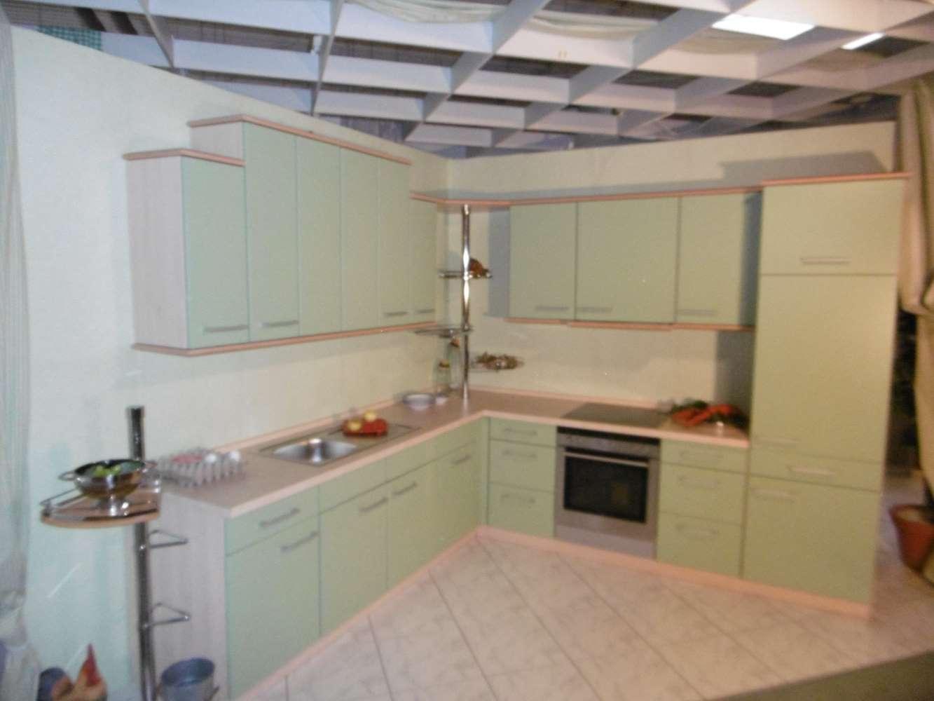 Mustereinbauküche gelbgrün