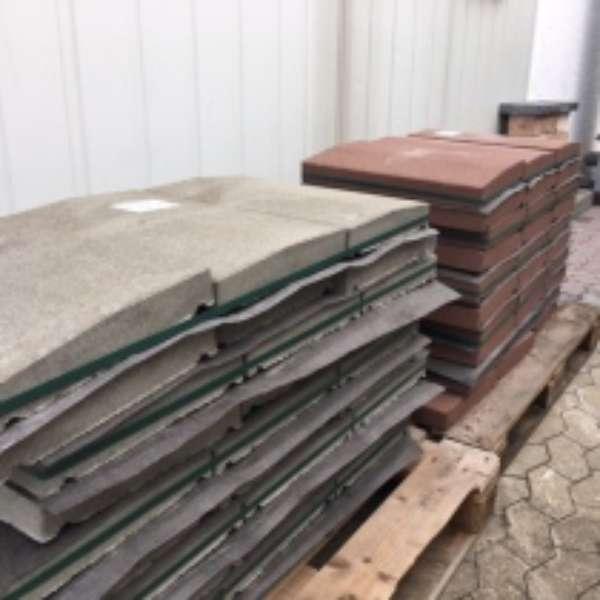 Terrano Abdeckplatten 50x33x5/6 cm Grau Satteldach (2.Wahl)