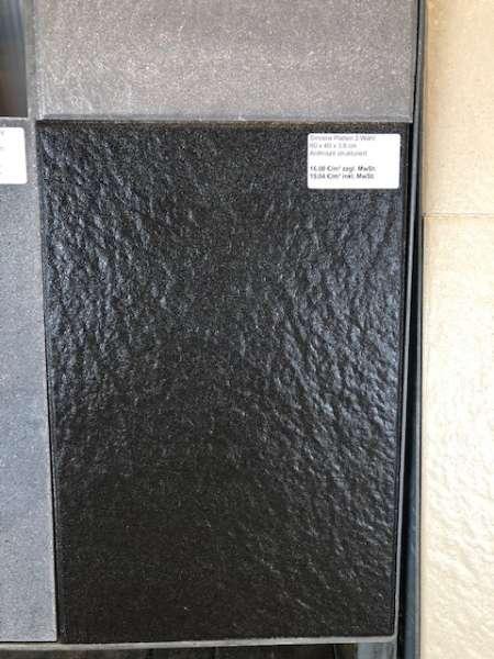 Sincera Terrassenplatten 60x40x3,8 cm anthrazit strukturiert (2.Wahl)