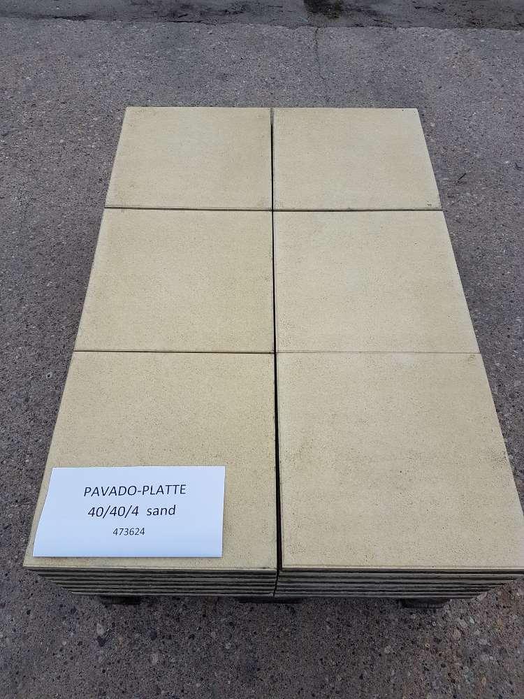 EHL Terrassenplatte sandfarben 40 x 40 x 4cm 2. Wahl
