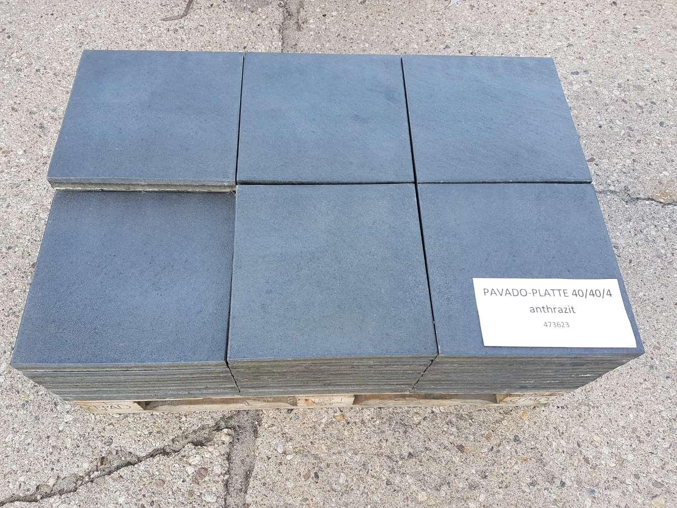 EHL Terrassenplatte anthrazit 40 x 40 x 4 cm 2. Wahl