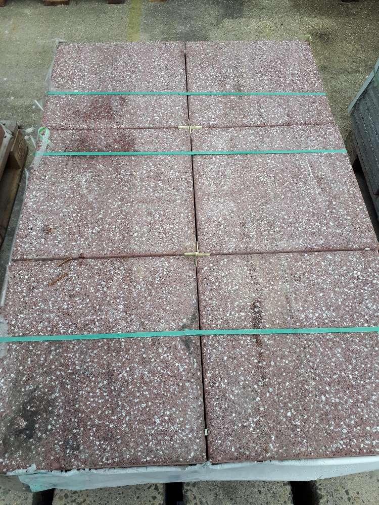 EHL Terrassenplatte rot 40 x 40 x 4 cm 2. Wahl