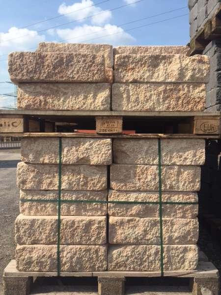Vermont Bruchsteinmauer Sandstein 50x25x15 cm Grundelement und Endelement (2.Wahl)