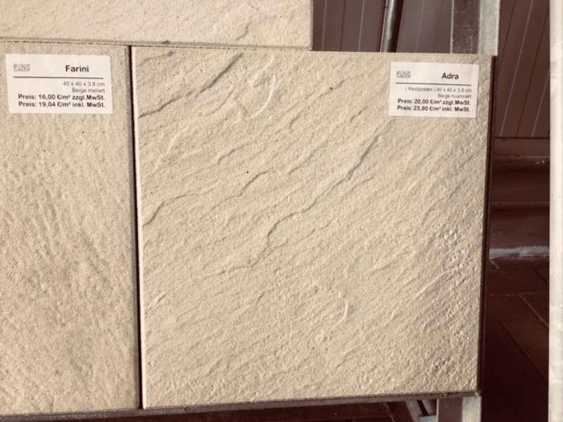 Adra Terrassenplatten 40x40x3,8 cm beige nuanciert (Restposten)
