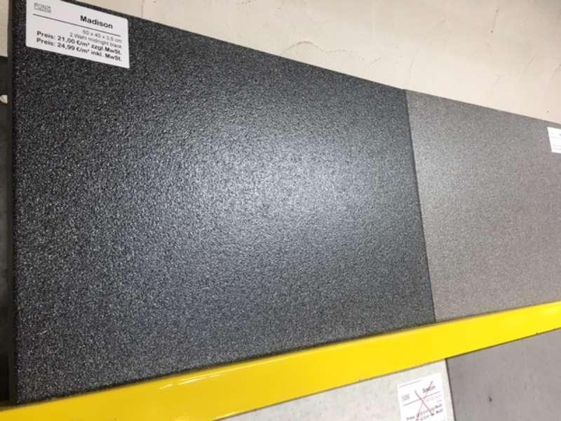 Madison Terrassenplatten 60x40x3,6 cm midnight black (2.Wahl)