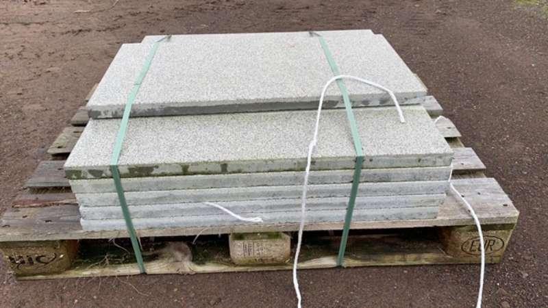 Fiori Terrassenplatten 80x40x3,6 cm weiß geschliffen & gestrahlt (2.Wahl)