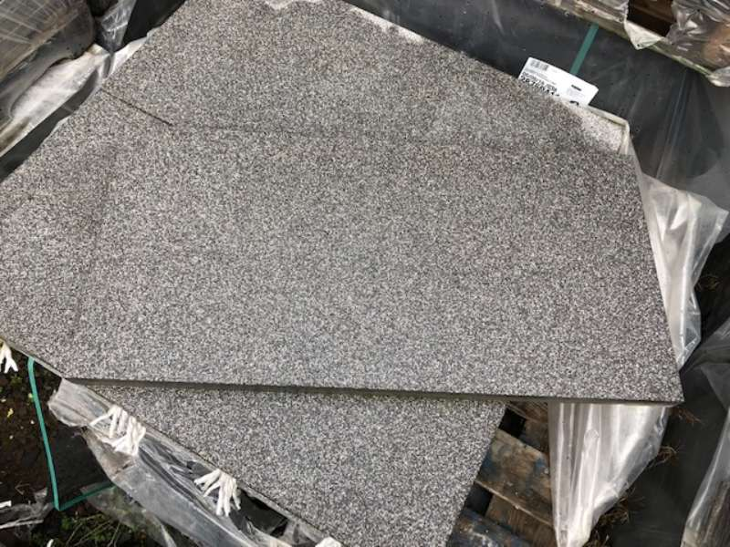 Fiori Terrassenplatten 80x40x3,6 cm anthrazit geschliffen & gestrahlt (2.Wahl)