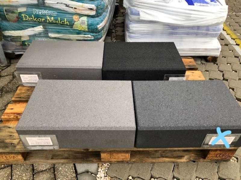 Casafino Stufen 50x34x15 cm Blauanthrazit kugelgestrahlt (Restposten)