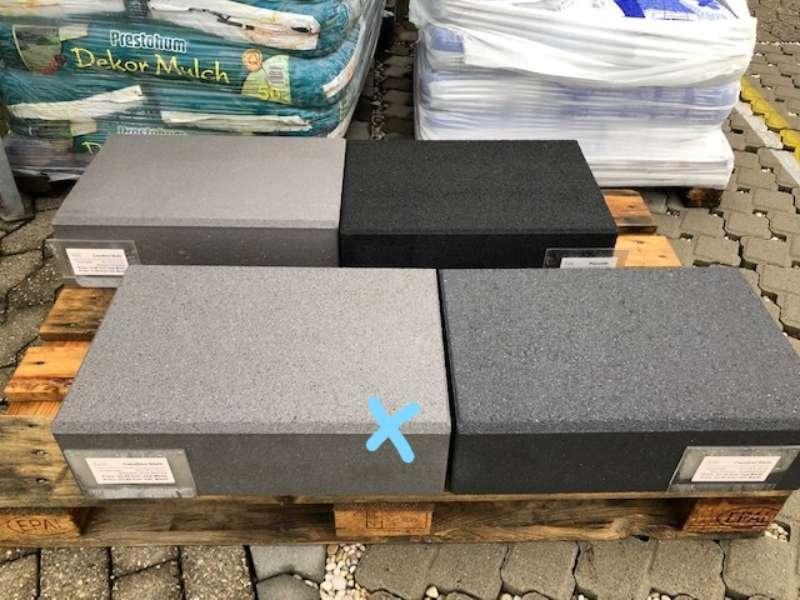 Casafino Stufen 50x34x15 cm Silbergrau kugelgestrahlt (Restposten)