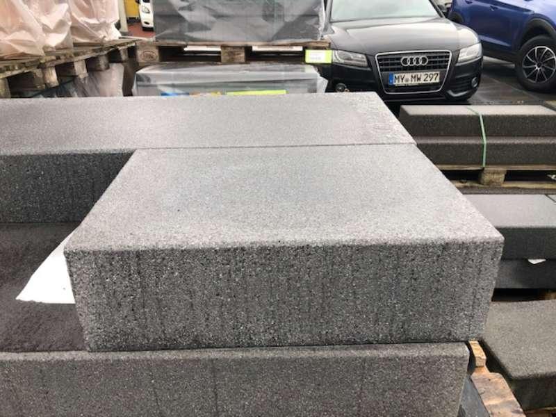 Vios Stufen Anthrazit 50x35x15 cm gestrahlt (Restposten)