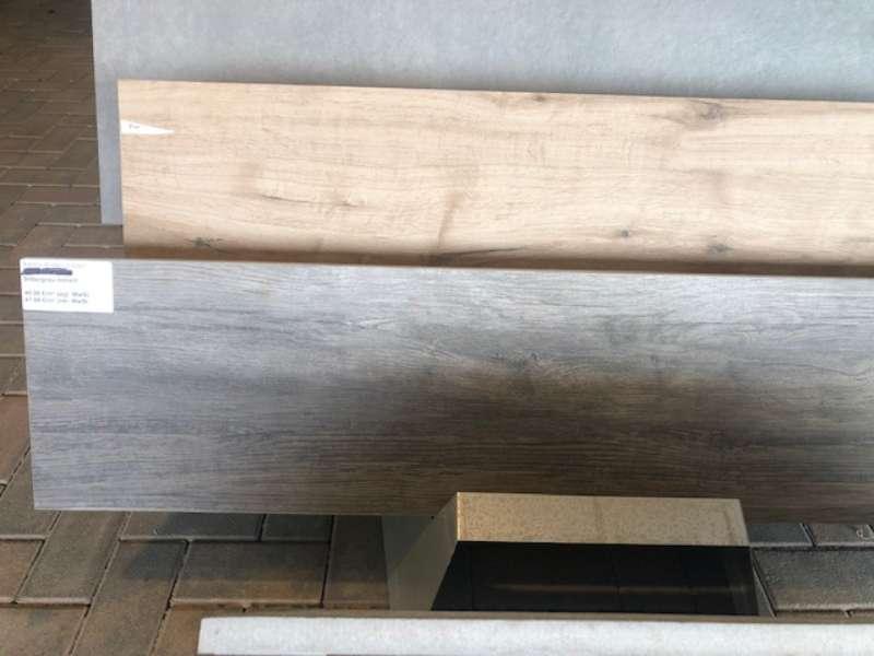Xantos Keramik Platten Silbergrau 120x30x2 cm (2.Wahl)