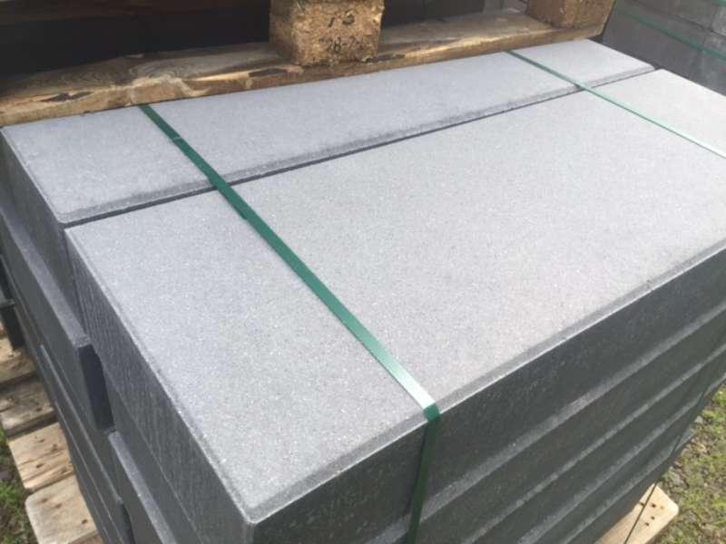 Vanity Stufen anthrazit unsatiniert/betonglatt 100x35x15 cm (2.Wahl)