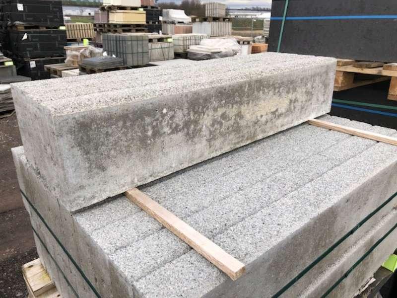 KANN Randsteine 8x20x100 cm Granit gewaschen (2.Wahl)