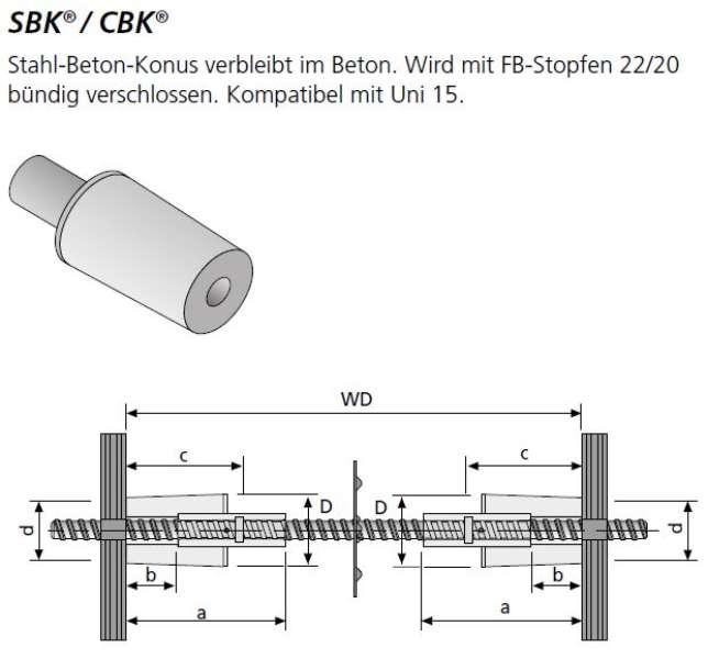 Stahl-Betonkonus SBK B 15