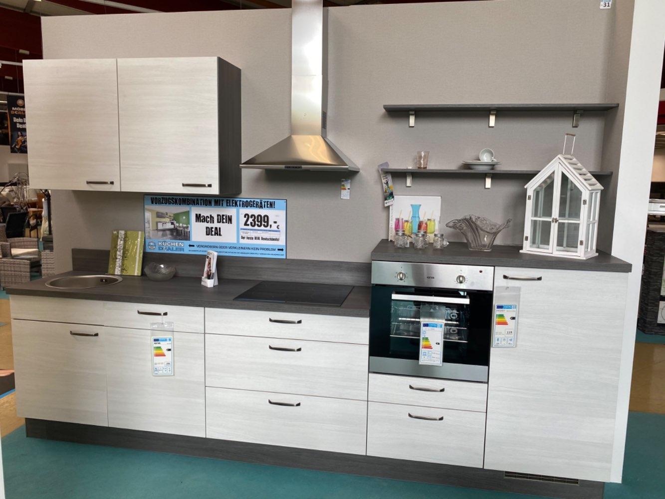 Einbauküche Angelit / Küche mit E-Geräten Top Deal Koje 31