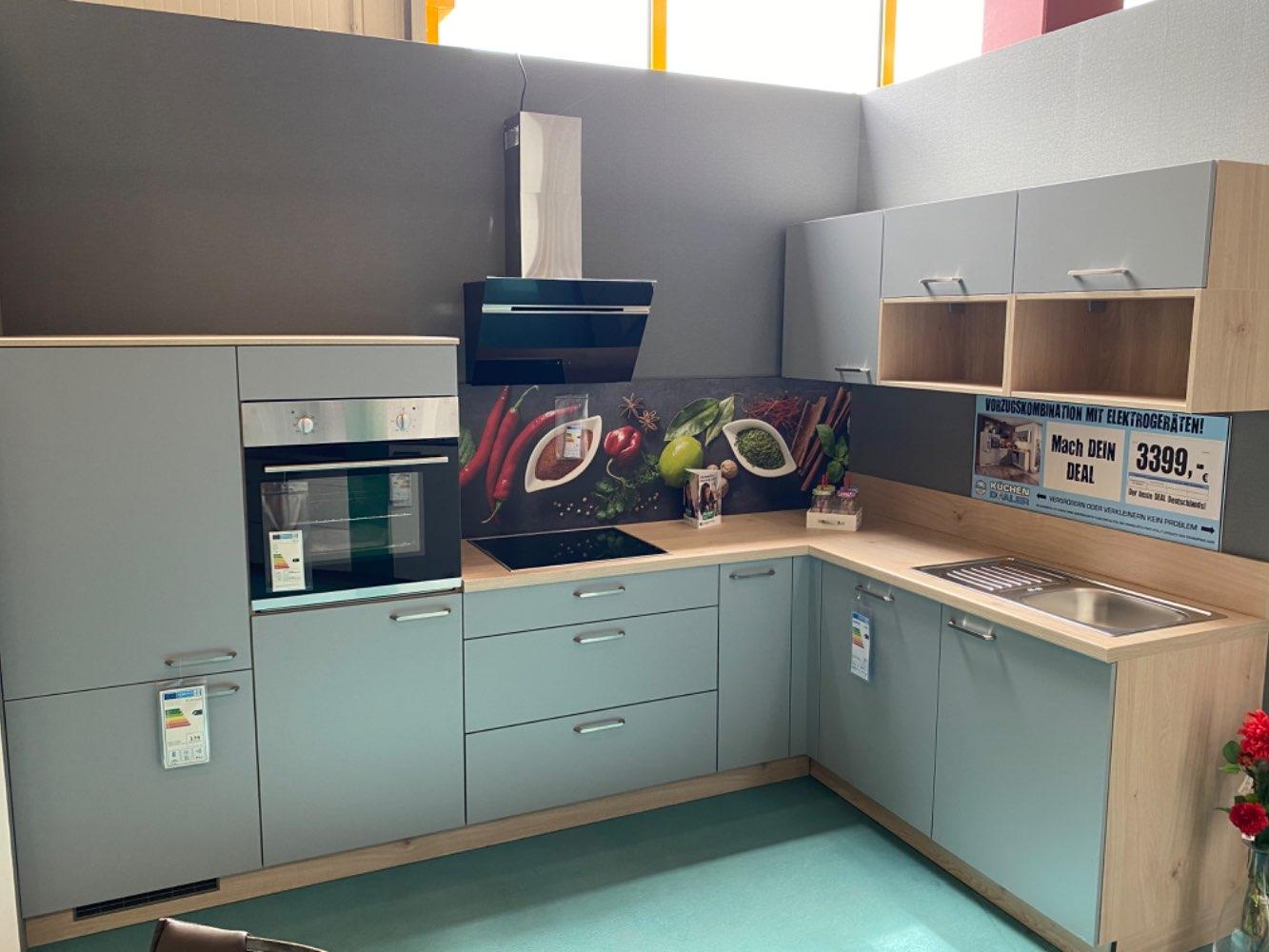 Einbauküche Zirkon / Küche mit E-Geräten Top Deal Koje 28
