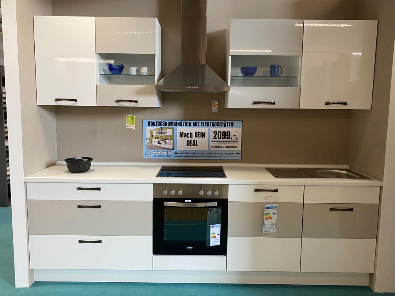 Einbauküche Beryll / Küche mit E-Geräten Top Deal Koje 21