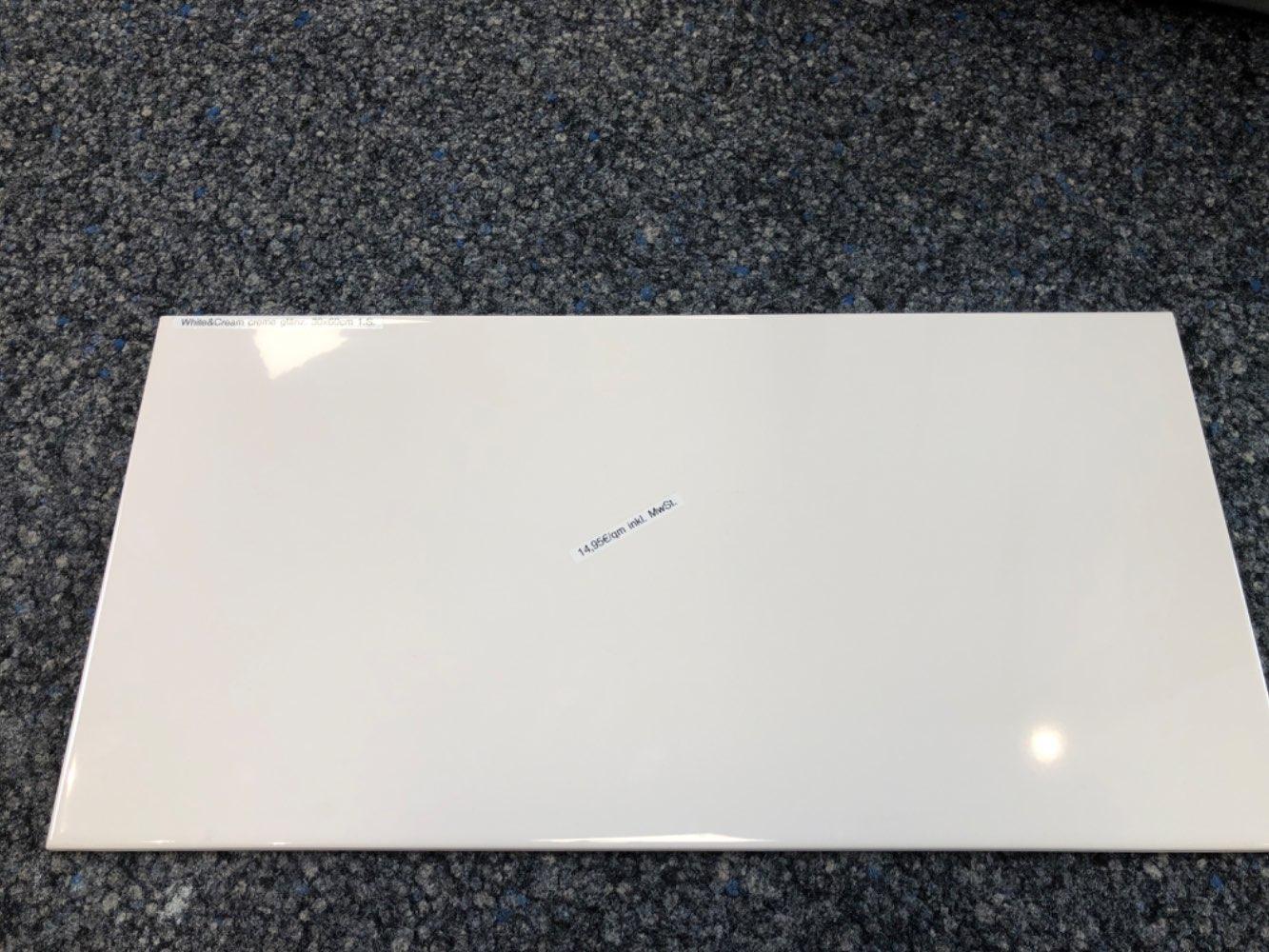 Wandfliese V&B White&Cream  creme 30x60cm