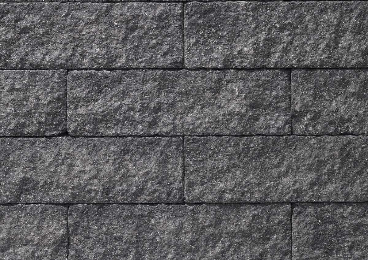KLB Troja  Bruchsteinmauer 50x25x15 cm anthrazit bosiert (1.Wahl)