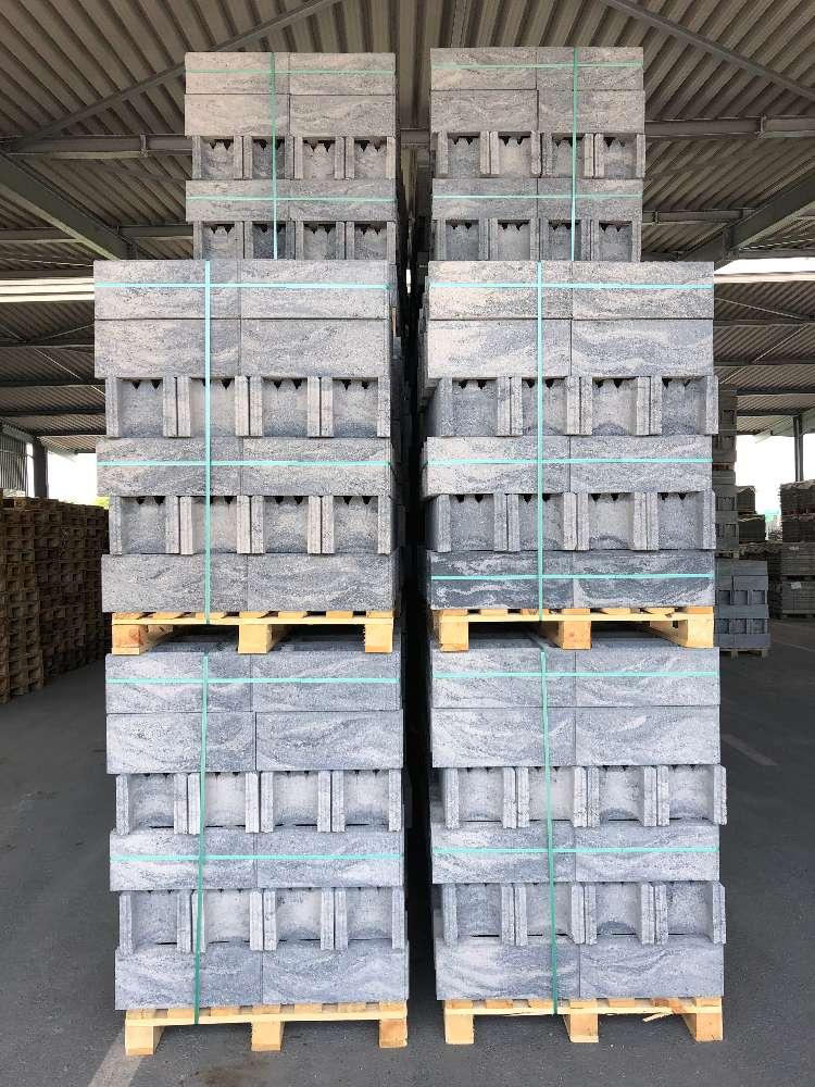 DP Schalungssteine 50x24x20 cm grau-anthrazit nuanciert (1.Wahl)