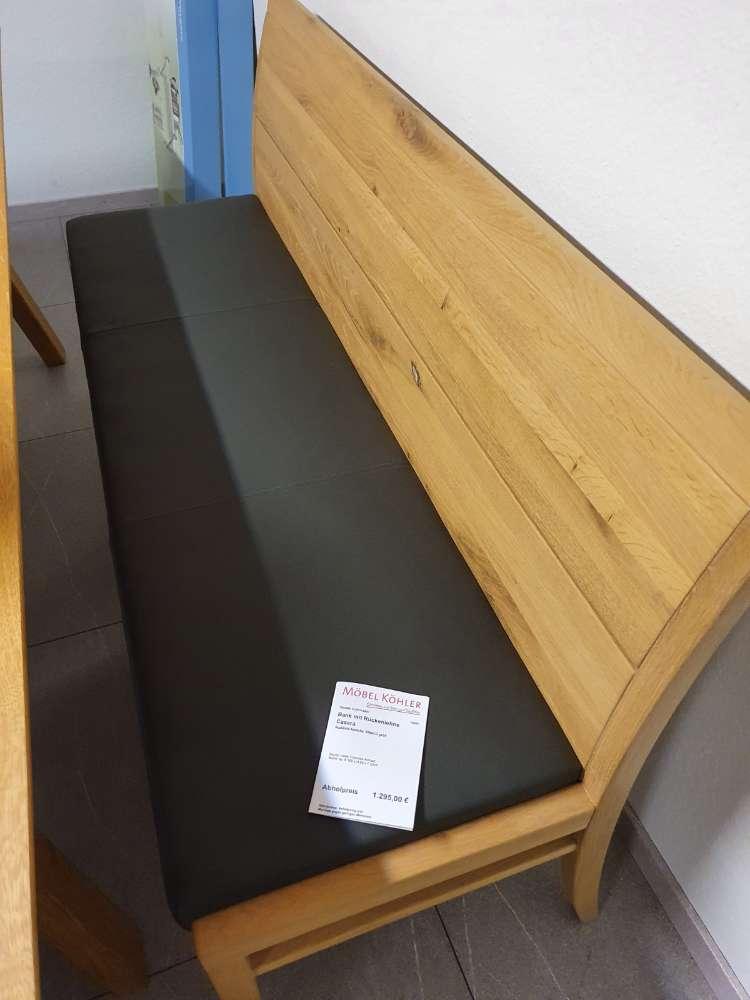 Bank mit Sitzpolsterung