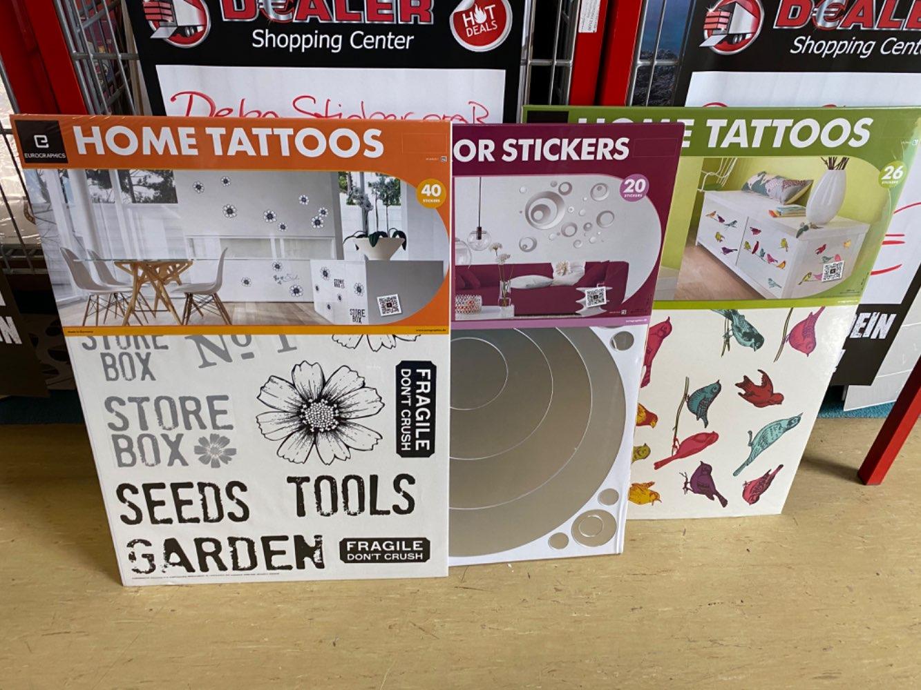 Deco Sticker / Aufkleber verschiedene Motive für je 4,99€