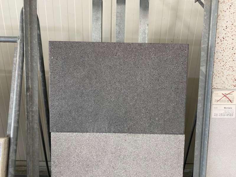 """Terrameng Platte 60x40x4 cm schwarz – basalt gestrahlt """"die Leichte"""" (2.Wahl)"""