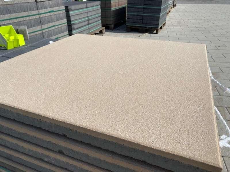 Vios Platten 80x80x5 cm beige gestrahlt (Sonderposten)