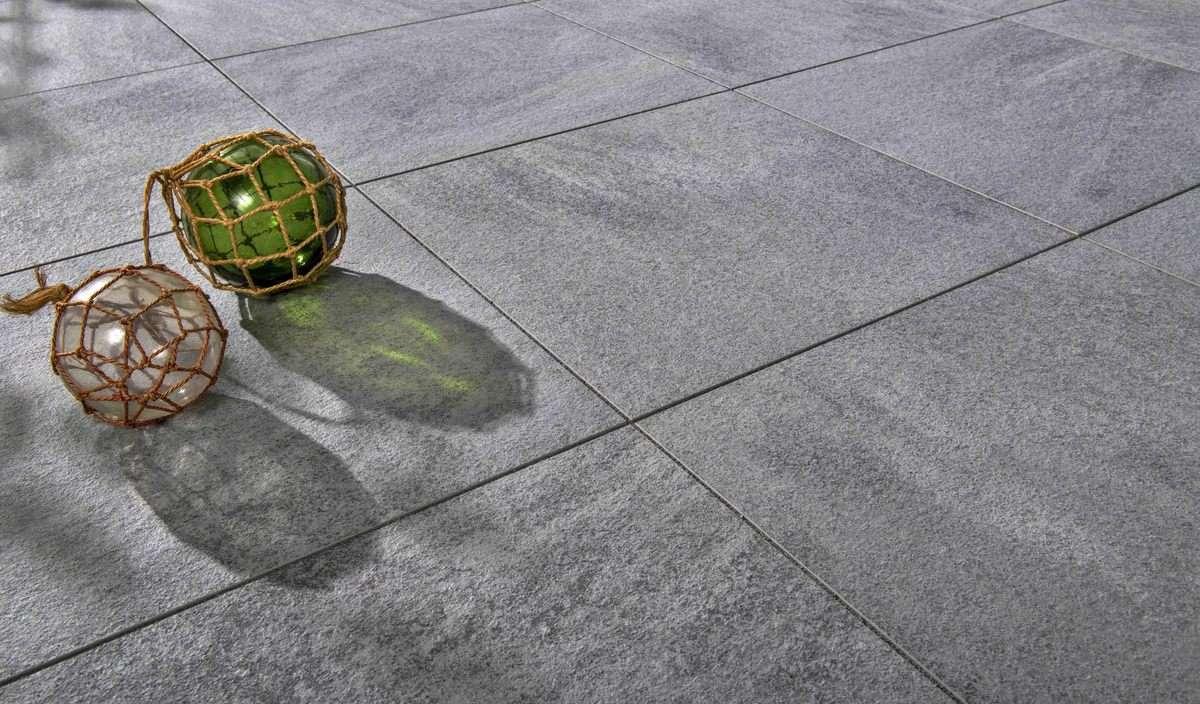 Nanos Keramik Platten 60x60x2 cm Grau & Anthrazit meliert Keramik (Restposten)