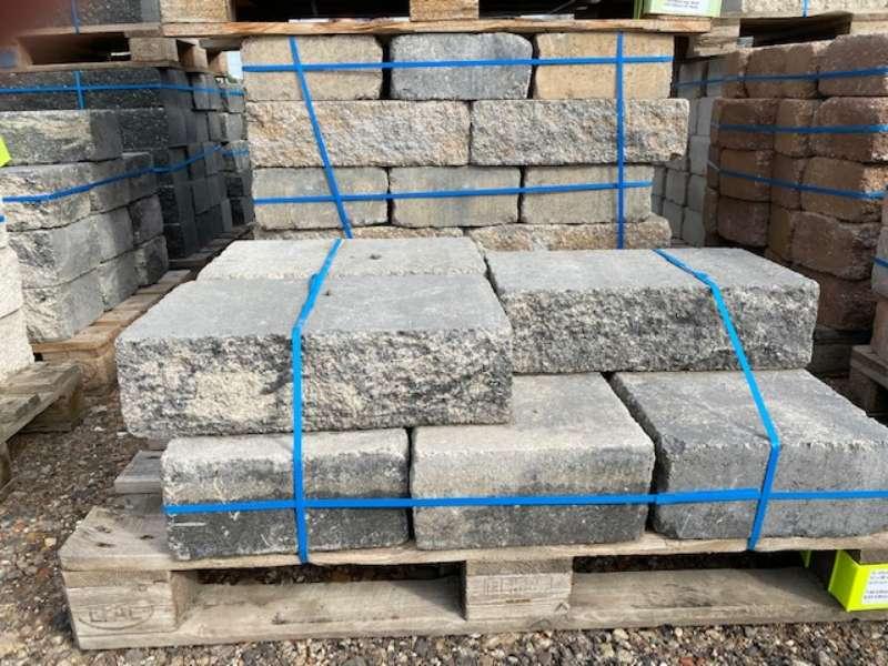 JASTO XL-Mauer Rustikal 50x30x14 cm Anthrazit-Weiß (2.Wahl)
