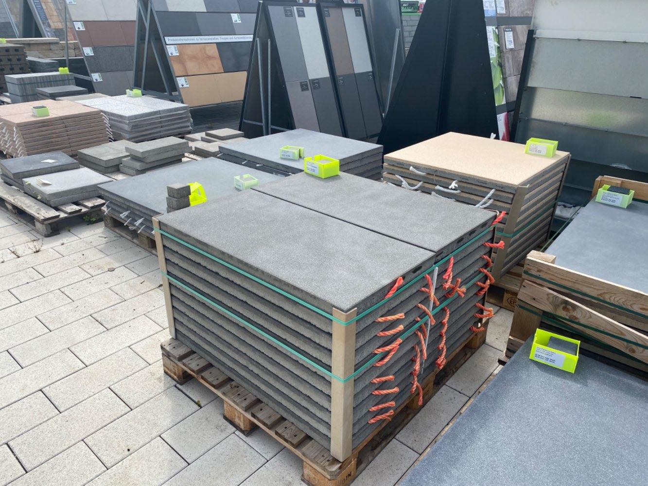 Vios Platten 100x50x5 cm Citrinbraun feingestrahlt (Restposten)