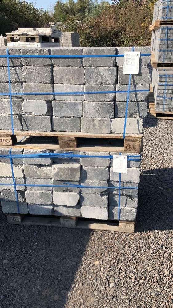 JASTO Burgmauer anthrazit-weiß 24×24,8×12,4 cm (2.Wahl)