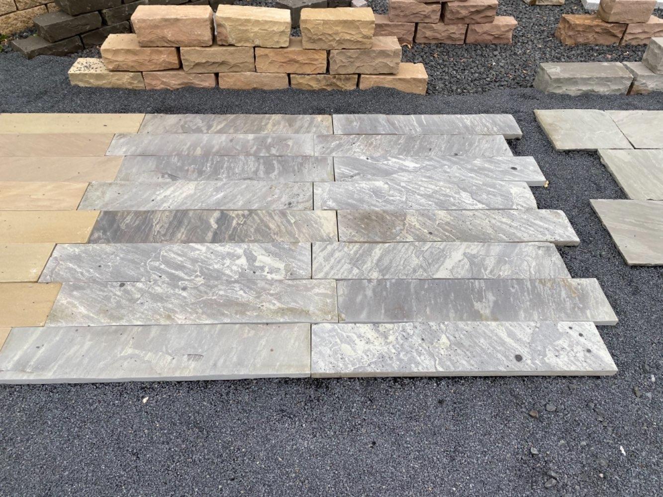 Natursteindielen Sandstein grau 100x20x2,8-3cm