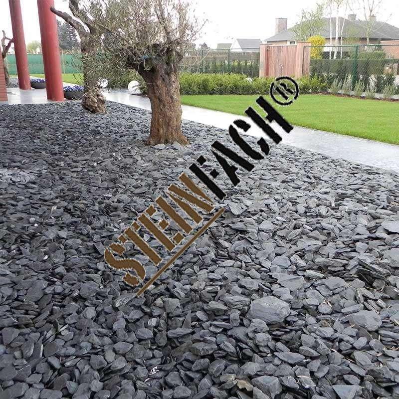 Schiefersplitt / Schotter 60 x 120 mm Körnung ( Tonnenpreis)