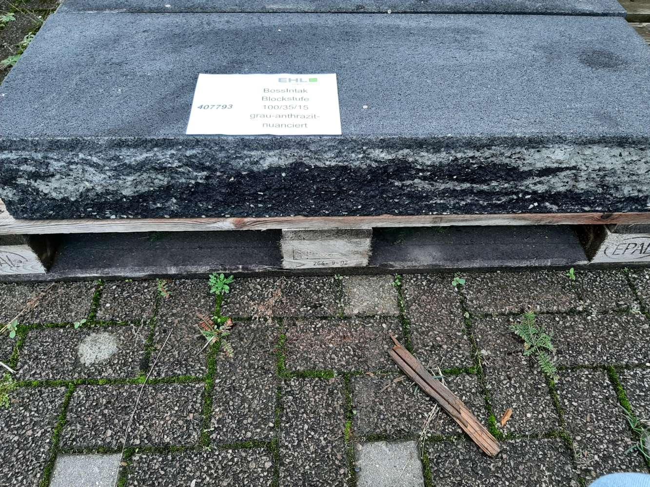 EHL BossIntak Blockstufe grau-anthrazit-nuanciert 100/35/15 II. Wahl