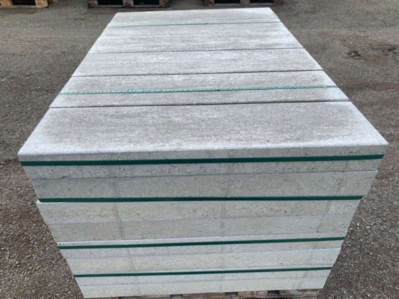 Rayon Langformatplatte 80x20x7,5 cm grau-alpin (2.Wahl)