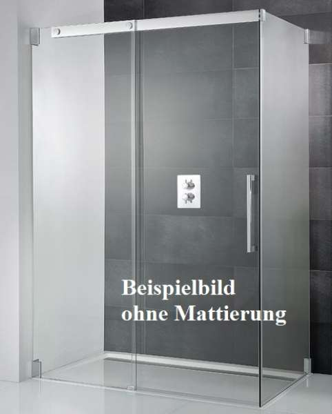 HSK – Duschkabine mit Gleittür und Seitenwand / Typ: K2P / mit Brausewanne 140 x 90 cm