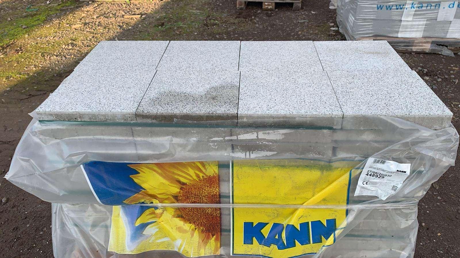 Vianova Platten 30x30x5 cm Platinhell geschliffen & gestrahlt (2.Wahl/Sonderposten)