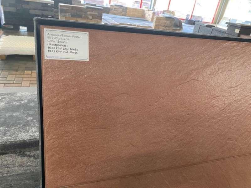 Andalusia/Terralis Exclusiv Platten 80x40x4,4 cm Cotto Schieferstruktur (Restposten)