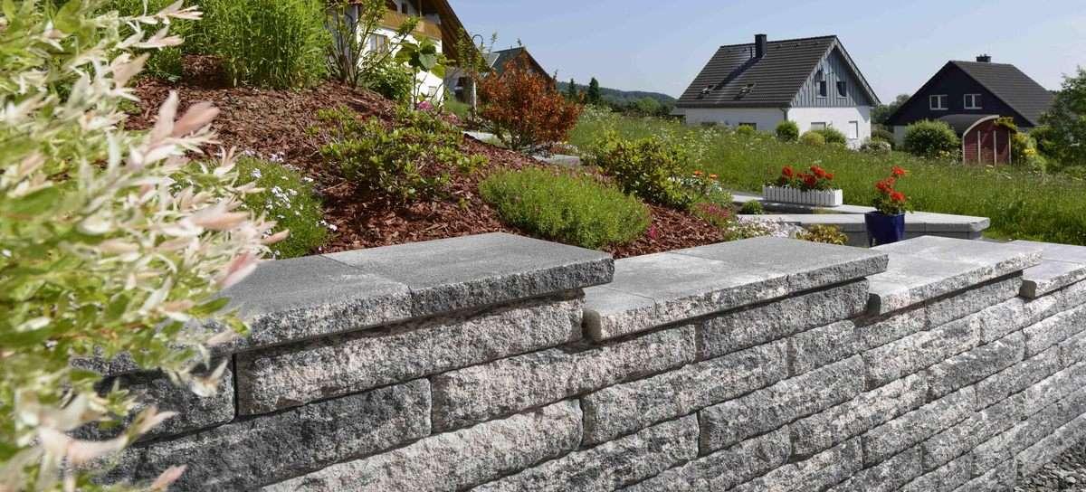 Vermont Grande Mauersteine Nero Bianco 75×37,5×15 cm ( Restposten )