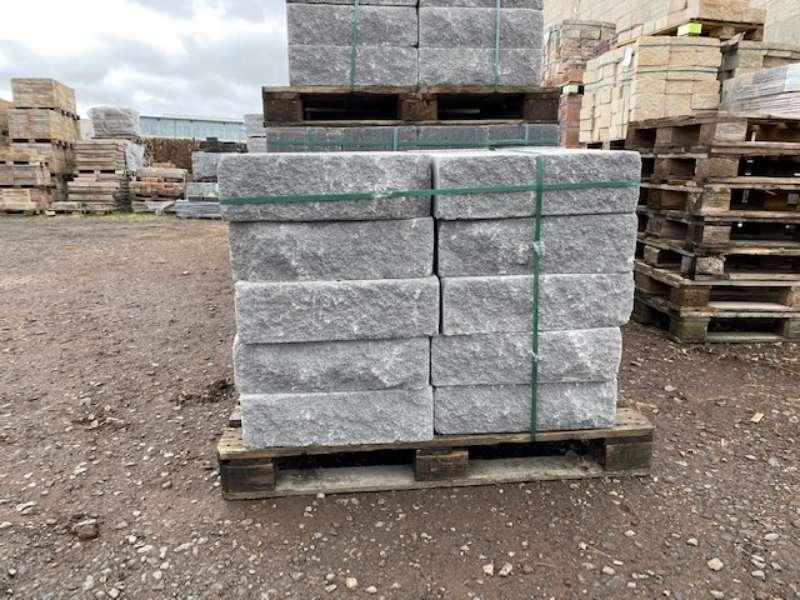 Vermont Bruchsteinmauer grau 50x25x15 cm Grundelement und Endelement (2.Wahl)