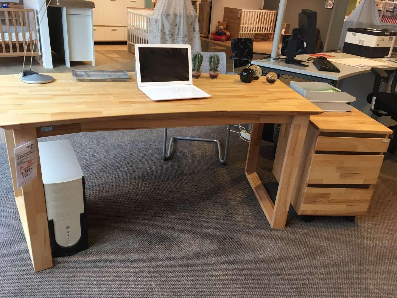 VALMONDO Schreibtisch inkl Rollcontainer